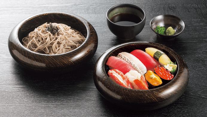 極上 寿司そばセット
