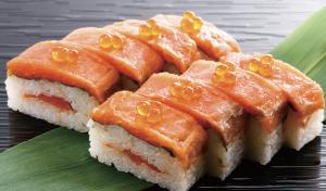 スモークサーモンの棒寿司